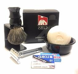 GBS Men's Vintage Shaving and Beard Grooming Set - Ceramic B