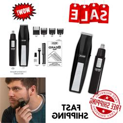 Wahl Cordless Battery Beard Mustache Trimmer Hair Nose Shave