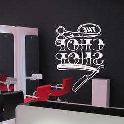 Wall Decal Scissors Shaver Hairdresser Salon Hair Beauty Mas