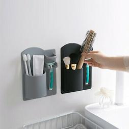 wall mounted toothbrush toothpaste shaver holder bathroom