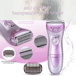 Washable Wet Dry Rechargeable Electric Women Lady Shaver Tri