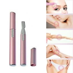 Women's Lady Face Hair Electric Eyebrow Trimmer Men Shaver R